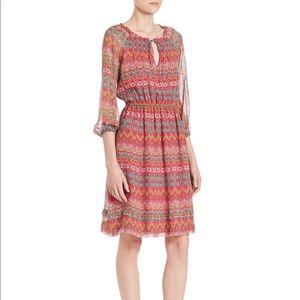DVF Parry Printed Silk Blouson Dress, Coromandel
